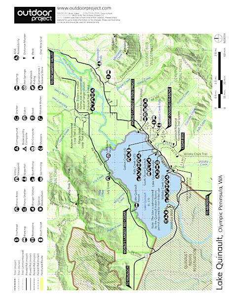 Quinault Rain Forest Nature Trail Loop Trail Map