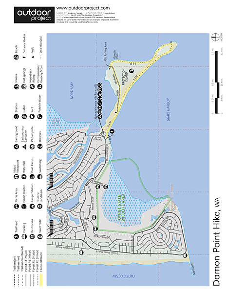 Damon Point Hike Trail Map