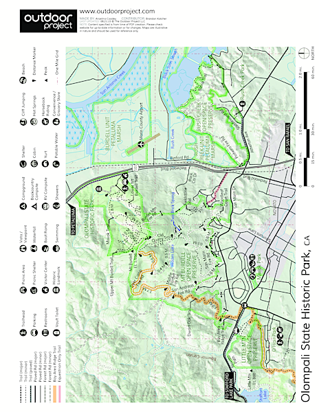 Olompali State Historic Park Trail Map