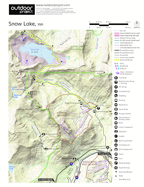 Snow Lake Map