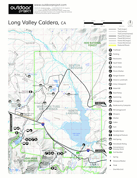 Convict Lake Loop Trail Trail Map