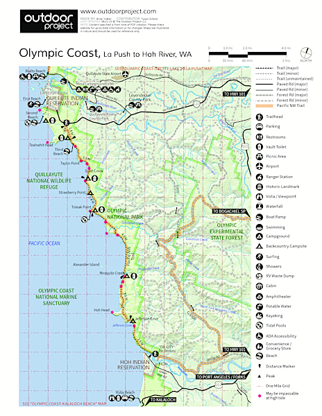 La Push, First Beach Map
