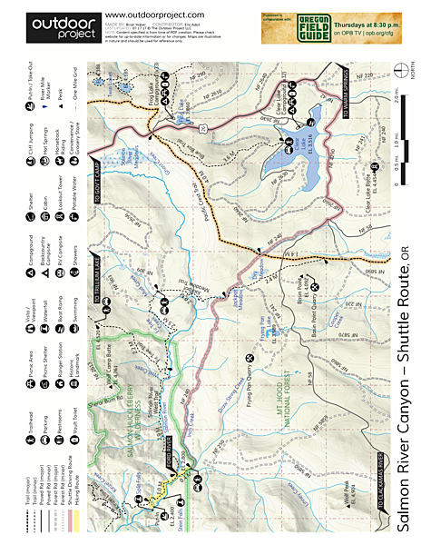 Salmon River Canyon River Map