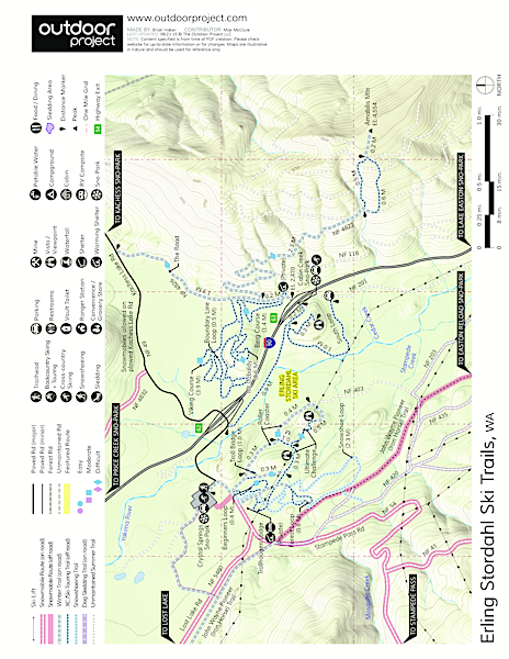 Erling Stordahl Ski Trails Map
