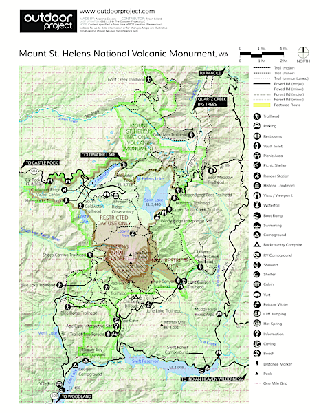 Coldwater Lake Hiking Trail Trail Map