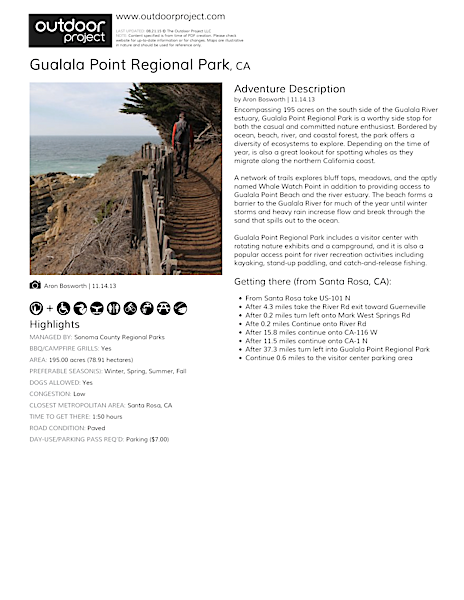 Gualala Point Regional Park Field Guide