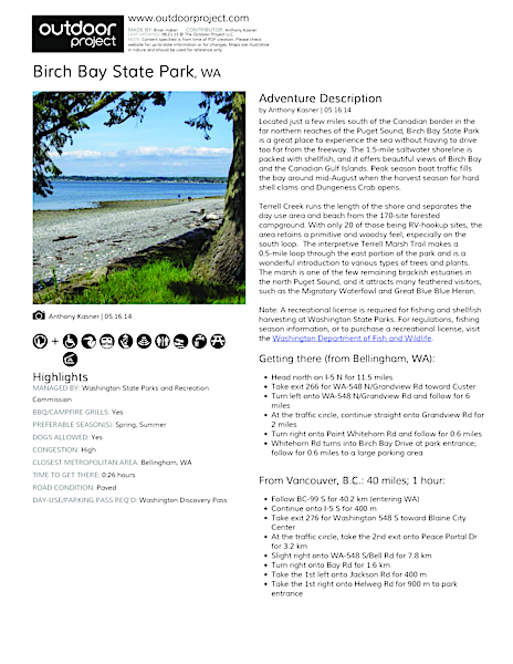 Birch Bay State Park Field Guide