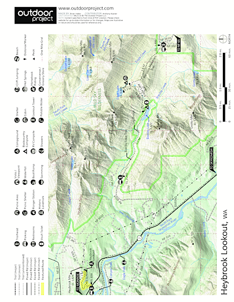 Heybrook Lookout Trail Map