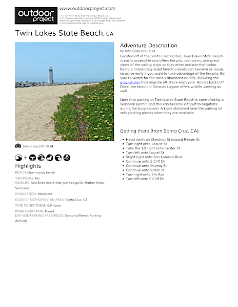 Twin Lakes State Beach Field Guide