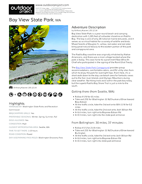 Bay View State Park Field Guide