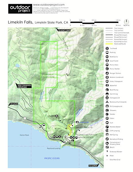 Limekiln Falls Trail Map