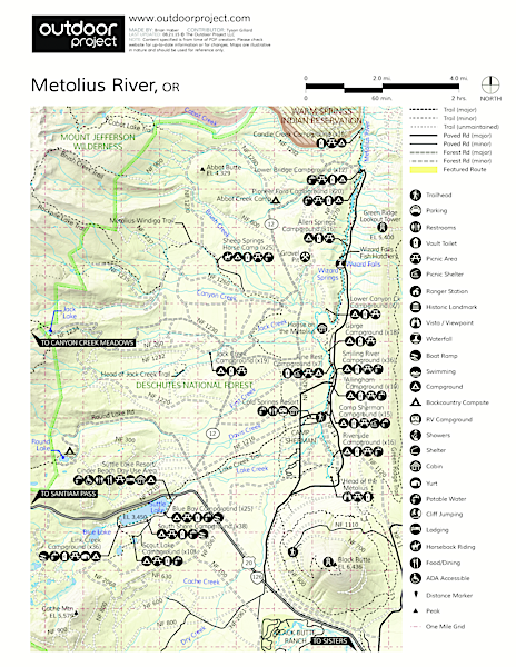 Smiling River Campground Map