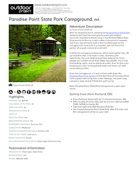 Paradise Point State Park Campground Field Guide