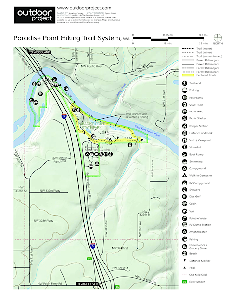 Paradise Point Hiking Trail System Trail Map