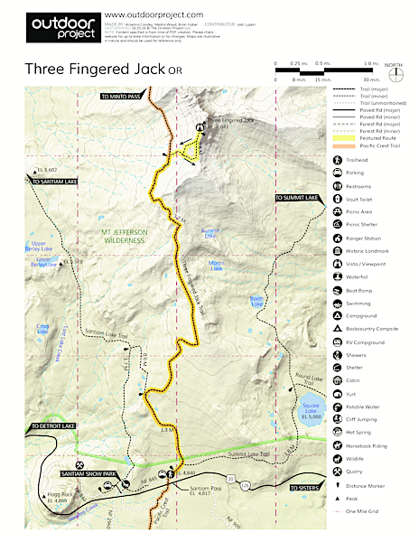 Three Fingered Jack Map