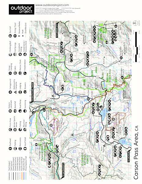 Grover Hot Springs State Park Map