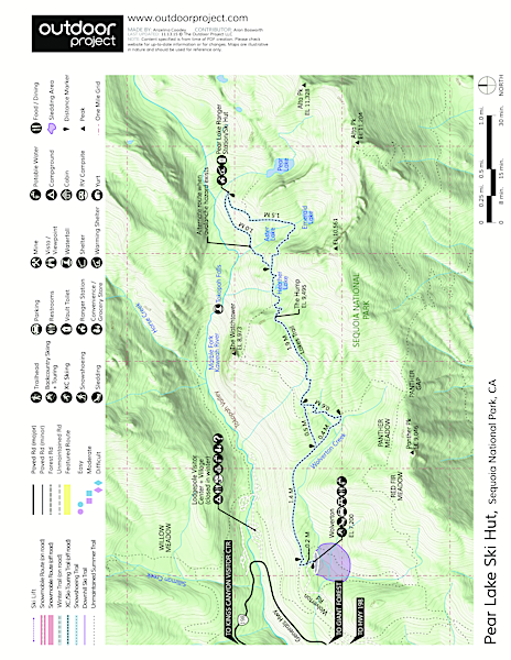 Pear Lake Ski Hut Map