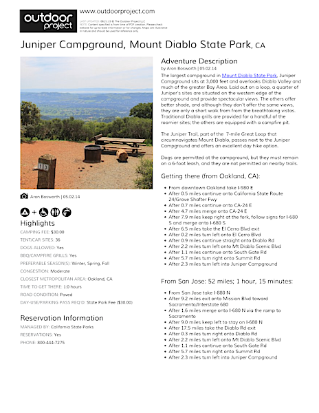 Juniper Campground Field Guide