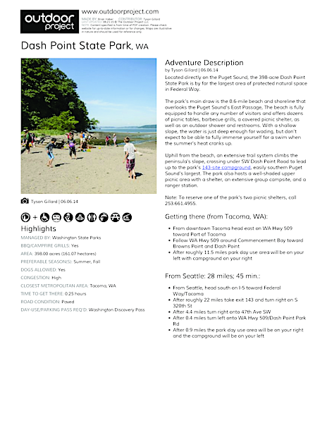 Dash Point State Park Field Guide