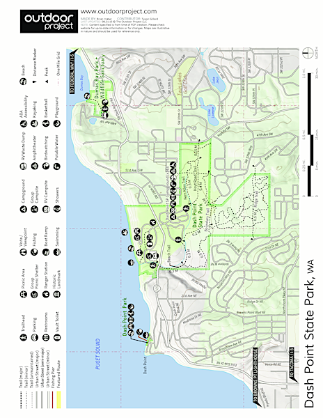 Dash Point State Park Map