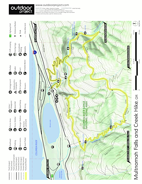 Larch Mountain Trail Trail Map