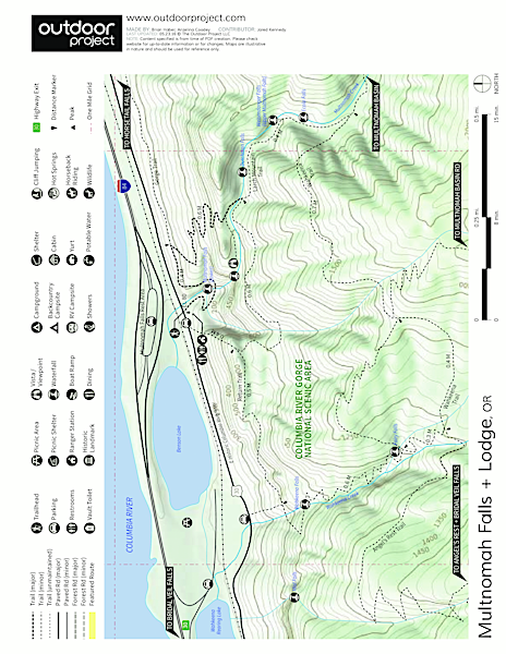 Larch Mountain, Sherrard Point Map