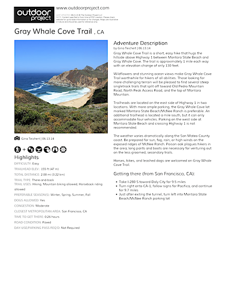 Gray Whale Cove Trail  Field Guide