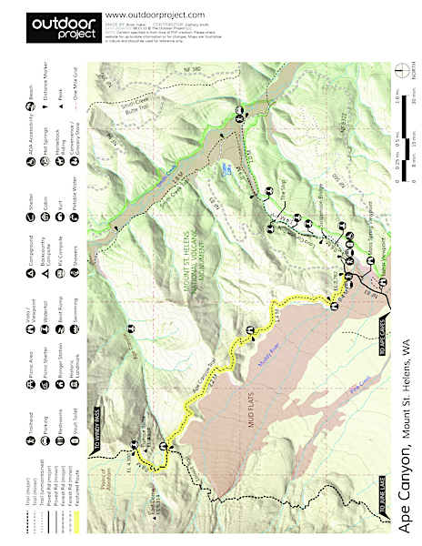 Ape Canyon Trail Map