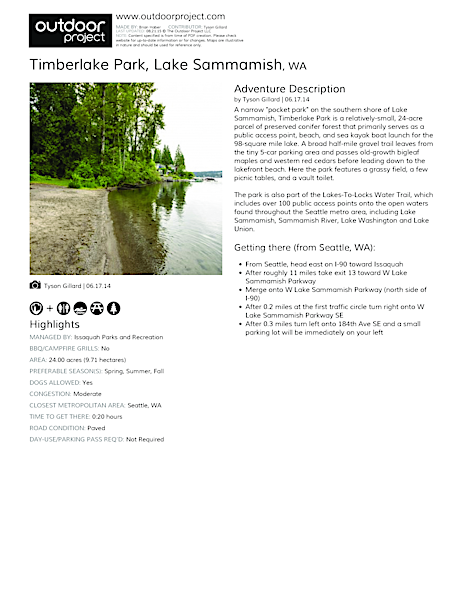 Timberlake Park Field Guide