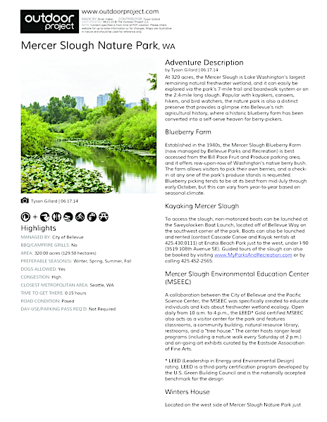 Mercer Slough Nature Park | Outdoor Project