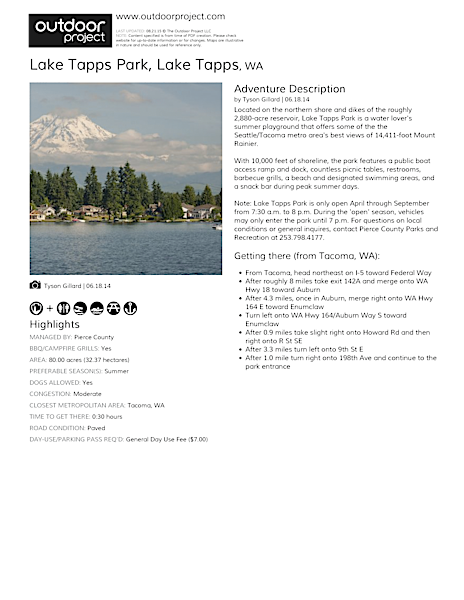Lake Tapps Park Field Guide