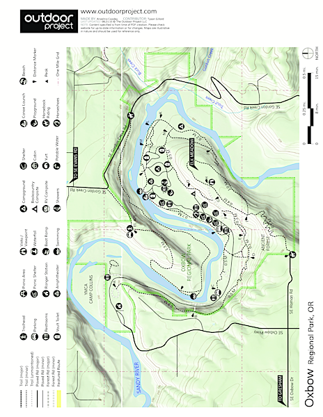 Oxbow Regional Park Campground Map