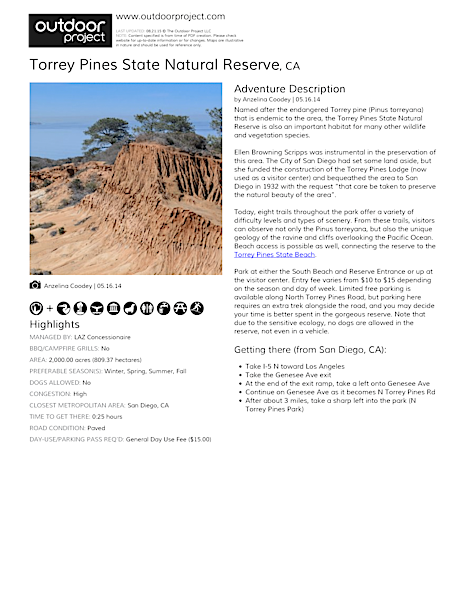 Torrey Pines State Natural Reserve Field Guide