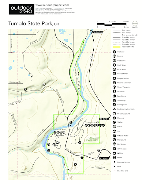 Tumalo State Park Campground Map