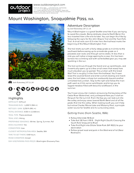 Mount Washington Field Guide