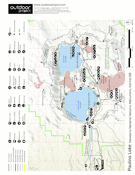 Newberry National Volcanic Monument Map