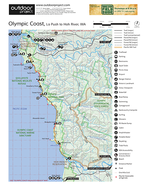 Olympic South Coast Wilderness Trail La Push to Hoh River Outdoor