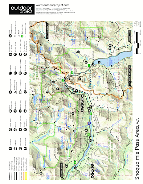 Denny Creek Campground  Map