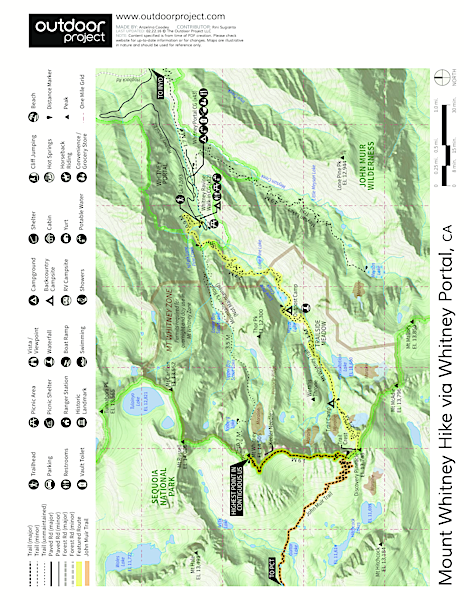 Where Is Mount Whitney On The California Map.Mount Whitney Hike Via Whitney Portal Outdoor Project