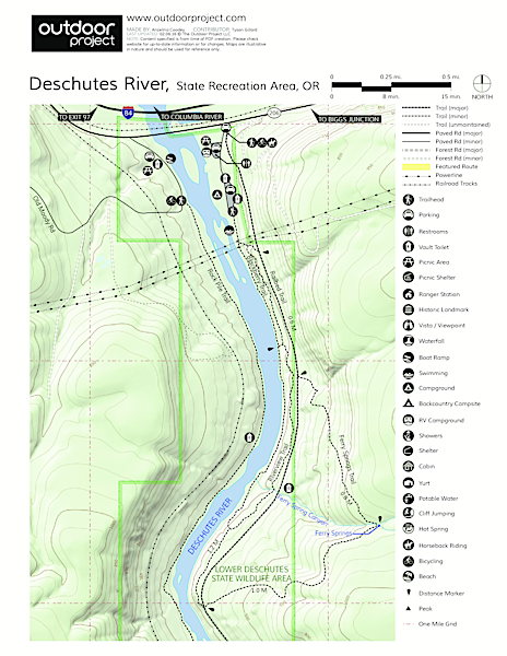 Deschutes River State Recreation Area Campground Map