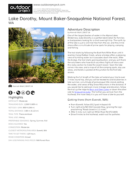 Lake Dorothy Field Guide