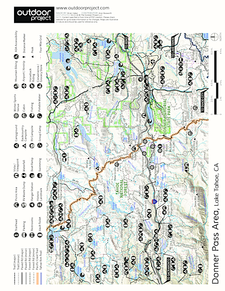 North Fork Falls  Map