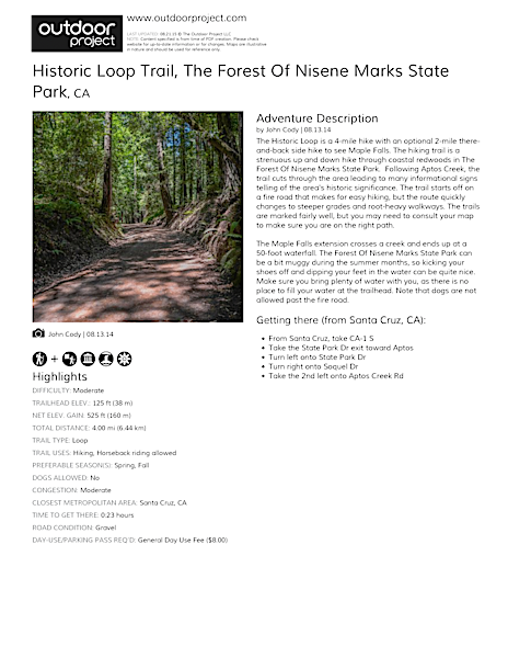 Historic Loop Trail Field Guide