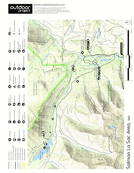 Waptus River to Waptus Lake Trail Map