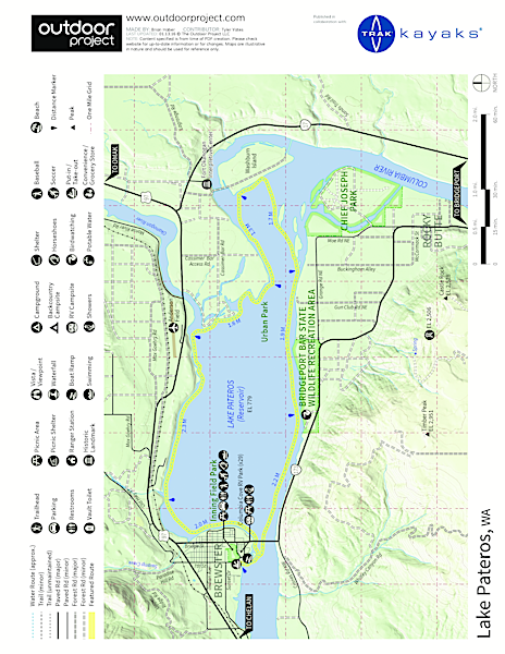 Lake Pateros Sea Kayaking Map