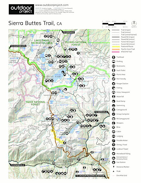 Sierra Buttes Trail Trail Map