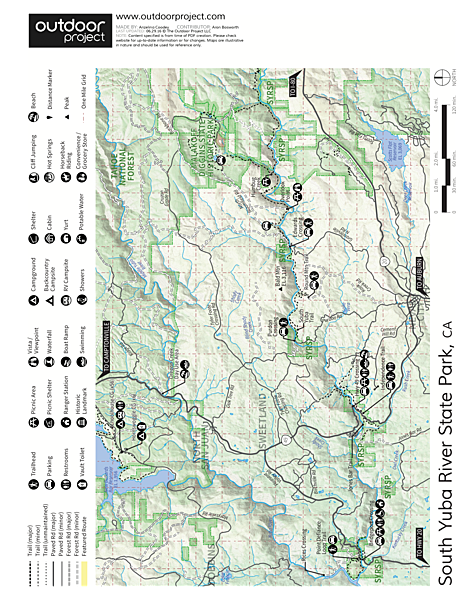 Oregon Creek Day Use Area Map