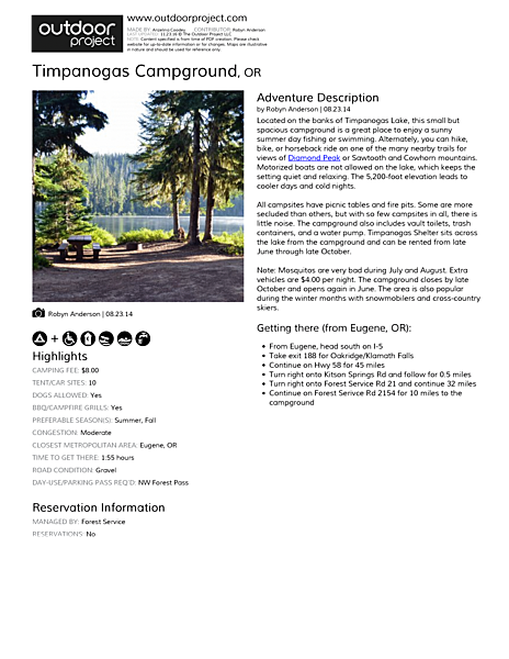 Timpanogas Campground Field Guide
