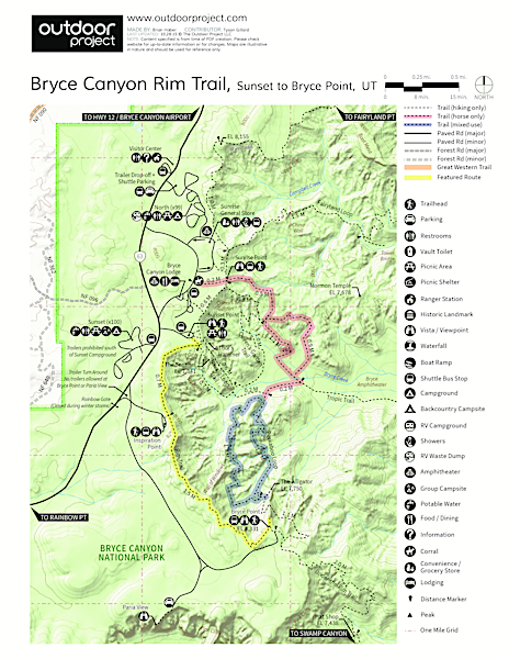 Bryce Canyon Rim Trail, Sunset to Bryce Point | Outdoor Project