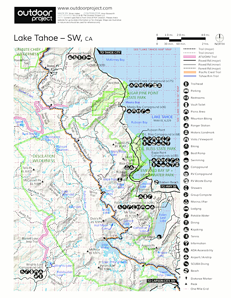 Sugar Pine Point State Park Map